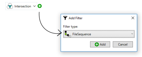 adding the file sequence filter option