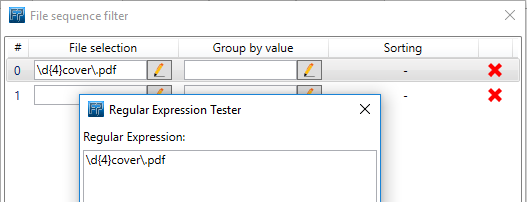Regular expression to select pdf files
