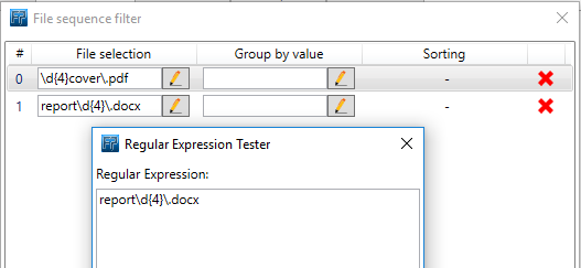 Regular expression to select Word documents