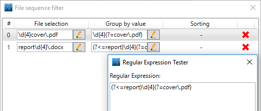Regular expression to group by